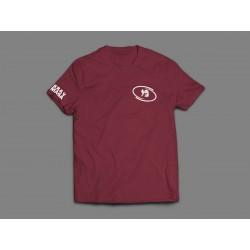Bawełniana koszulka Krav Maga  kolor burgund