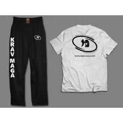 Komplet treningowy spodnie + koszulka - bawełna