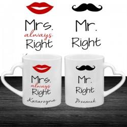 Mr. i Mrs. right - Dwa kubki dla pary